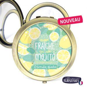 Miroir-Les-Parisiennes-bronze-antique-Mojito-accessoire-cocktail-citron-menthe-ete