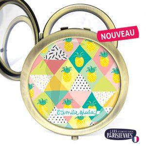 Miroir-Les-Parisiennes-bronze-antique-Pina-Colada-accessoire-ananas-cocktail-confettis