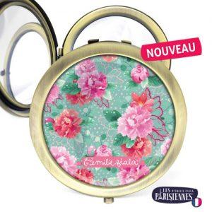 Miroir-Les-Parisiennes-bronze-antique-Pivoines-accessoire-fleurs-liberty