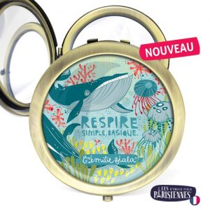 Miroir-Les-Parisiennes-bronze-antique-Respire-accessoire-baleine-sous-marin