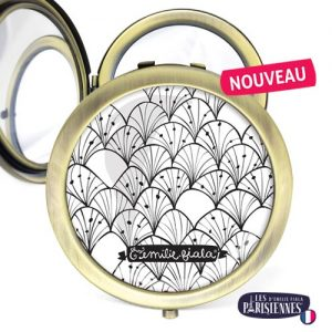 Miroir-Les-Parisiennes-bronze-antique-Verger-accessoire-graphique-NB