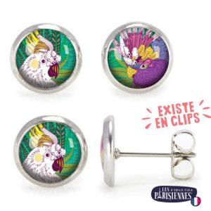 PO-Les-Parisiennes-Perroquets-argent-bijoux-fantaisie-cadeau