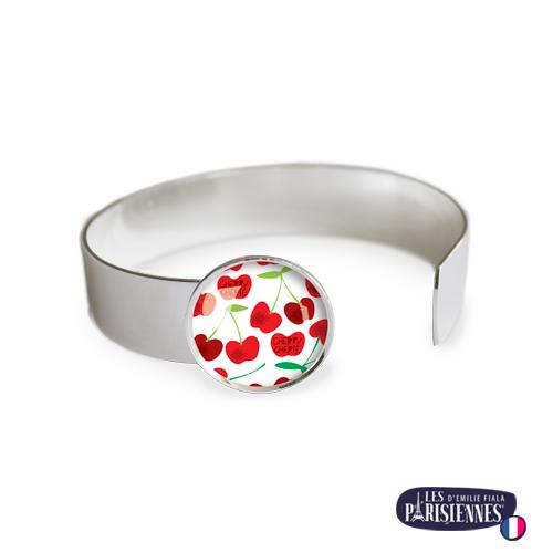 Bracelet-Medium-Les-Parisiennes-Cherry_ARGENT
