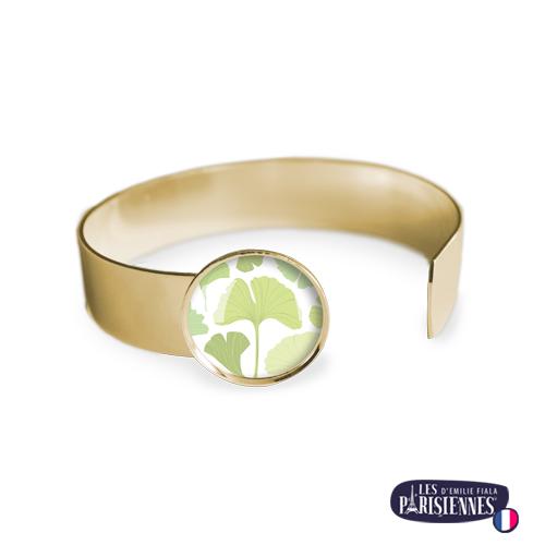 Bracelet-Medium-Les-Parisiennes-Ginkgo-Biloba_OR